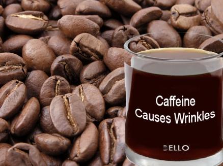 Caffeine cause wrinkle