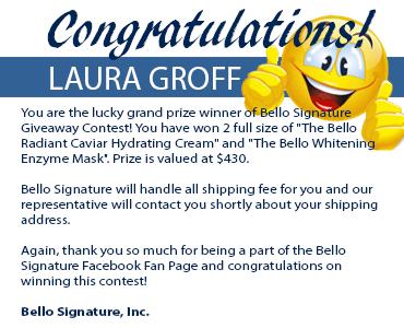 Congratulation Laura Groff!